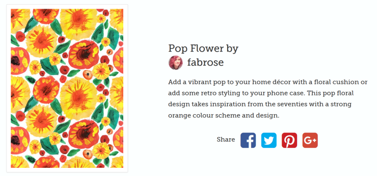 ZIPPI POP FLOWER FABROSE